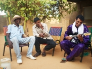 Bombino and friends at Bombino's house in Niamey