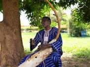 Mamane Barka playing the biram