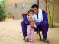 Bombino and daughter at home in Niamey