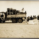 The truck just after the hi-jack attempt. (c) Nadia Nid El Mourid 2001
