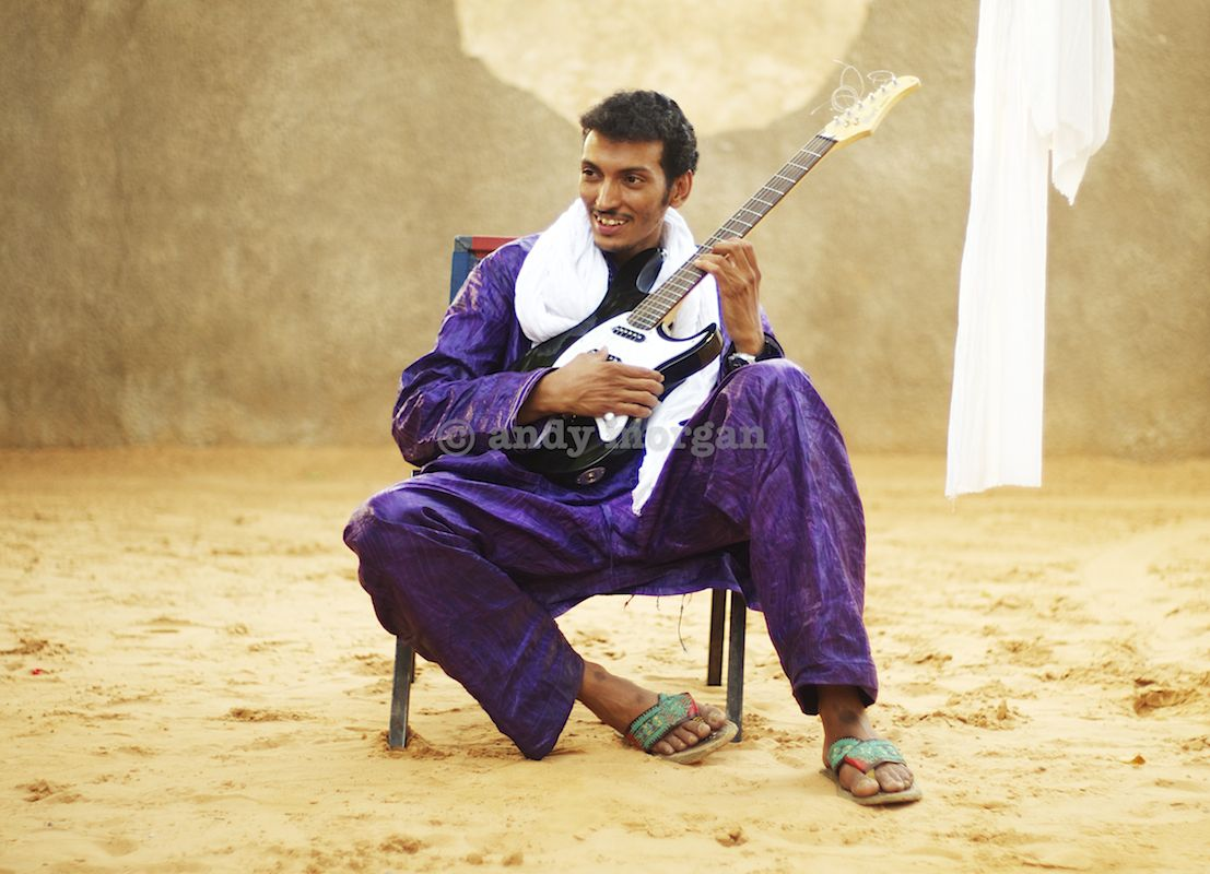 Bombino at home in Niamey, Niger, Feb 2013. (c) Andy Morgan.