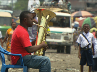 Papy and his tuba Kinshasa