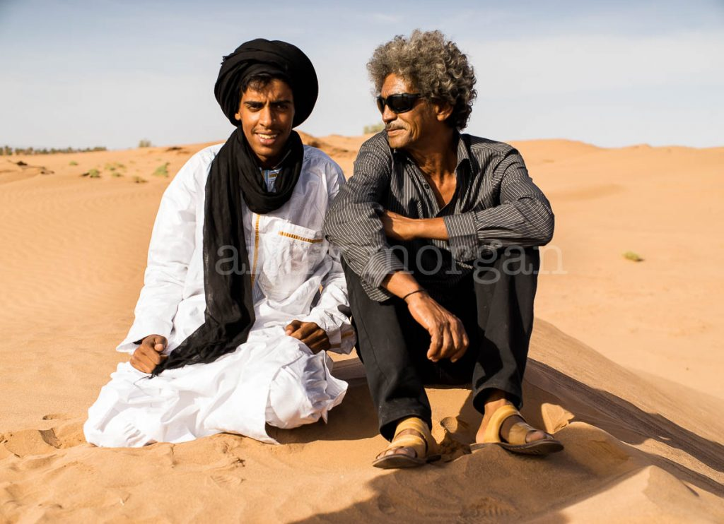 Member of Jeunes Nomads and Ibrahim 'Abaraybone' from Tinariwen.