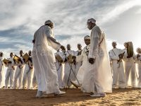 Group of Ahidous sword dancers and singers, Taragalte Festival 2017