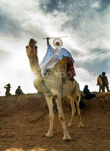 A camel rider at dusk, Taragalte Festival 2017