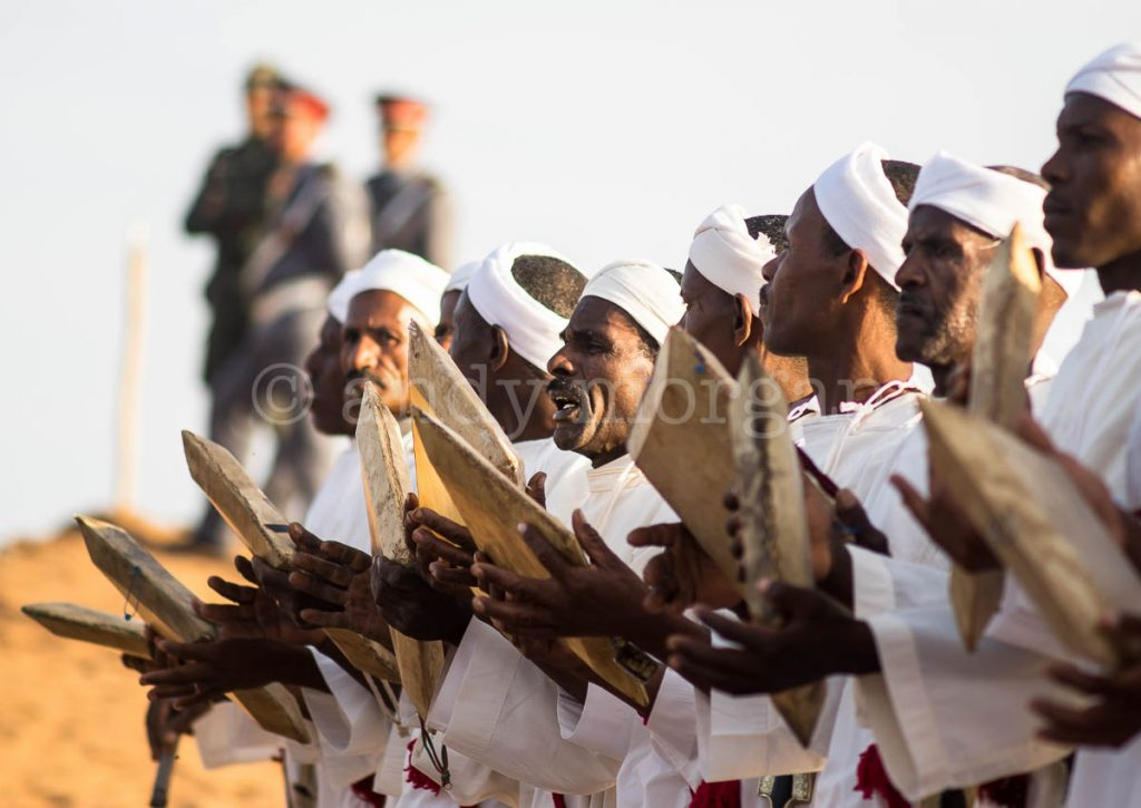 A traditional troupe of Ahidous singers at the Taragalte Festival 2017